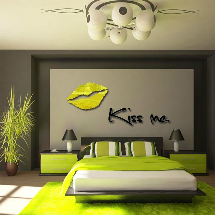 3D鏡面立體亞克力妖艷紅唇牆貼臥室沙發背景牆客廳kissme唇印 2