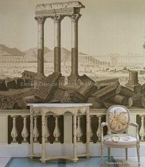 hand painted papier peint panoramiques wallpaper