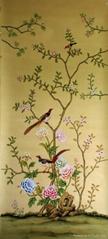 Hand Embroidered Silk Wallpaper