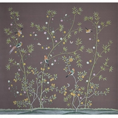 hand-painted Chinese traditional art wallpaper silk wallcoverings