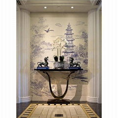 hand painted wallpaper - Westlake Scenery