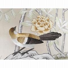 Chinoiserie Hand painted silk Wallpaper