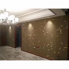 Hand painted Ginkgo leaf silk Wallpaper