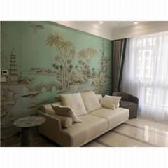 hand painted landscape wallpaper silk wallpaper