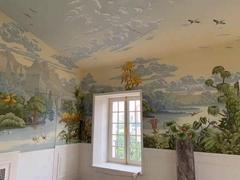 hand painted panoramic mural wallpapers