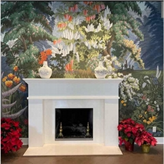 Landscape Panoramic hand painted wallpaper for home deco