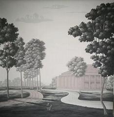 Panoramic wallpapers handpainted wallpaper on scenic paper, panoramic murals