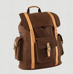 Washed canvas backpack