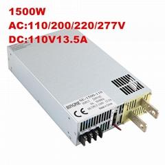 供應 1500W 110V開關電源110V13.5A 工業工控DC110V SE-1500-110