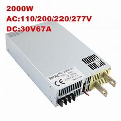 2000W 30V66A Switching Power Supply DC30V66A 0-30v Adjustable Power Supply