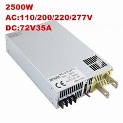 2500W 72V34.7A大功率開關電源DC72V34.7A 恆壓恆流0-72V可調電源