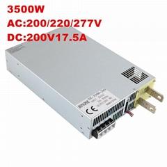 3500W200V17.5A開關電源工業工控DC200V17.5A恆壓恆流0-200v可調