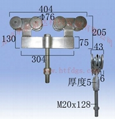 工业吊轮吊轨1500型