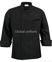 M120 黑色长袖厨服