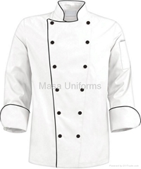Traditional Chef Coat with Black Trim,chefs wear/chefs clothes/chef uniform
