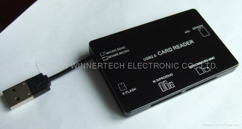 flat all-in-1 card reader