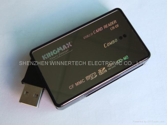twistering USB-A plug all-in-1 reader