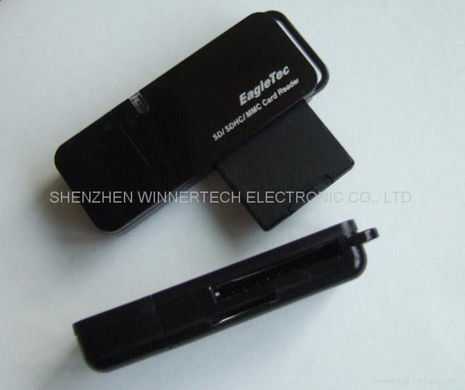SDHC/MINI-SD/TF 雙口讀卡器 1