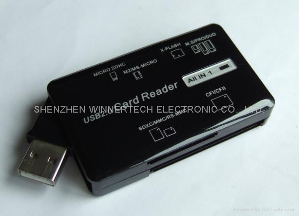 USB2.0 6 SLOTS all-in-1 card reader 1