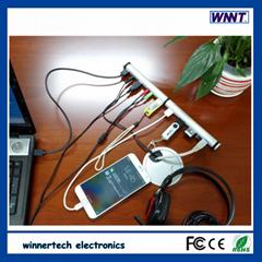 新款3.0 type C 集线器,支持读卡驱动和音视频接口,BC1.2 高速