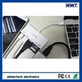 Ultra-mini TYPE-C USB3.0 hub card reader and power delivery 1