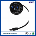 Combo round  5 ports usb 3.0 hub,SD/TF