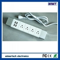 Slim designed power strip with usb port, 1.8m length cable