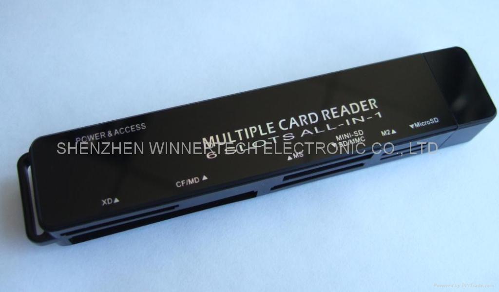 USB2.0 SIM+all-in-1 flash card reader