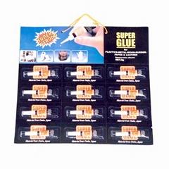 12PCS super glue on blister card