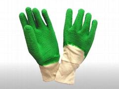 latex dipped glove