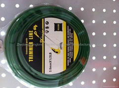 nylon line 2.4mm*1LB,green in bliaster package