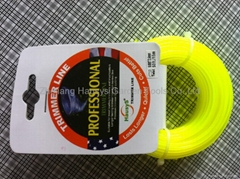 trimmer line,2.4mm*15m,yellow in headcard package