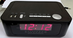 ALARM CLOCK RADIO WITH WIRELESS CHARGE