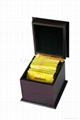 Mini Black Wooden Tea Gift Boxes Pocket