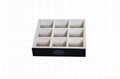 Durable 9 Compartment Tea Wooden Stand