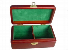 High-Grade Wooden Tea Box Felt Tea Chest