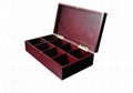 Black Solid Wooden Tea Bags Box and