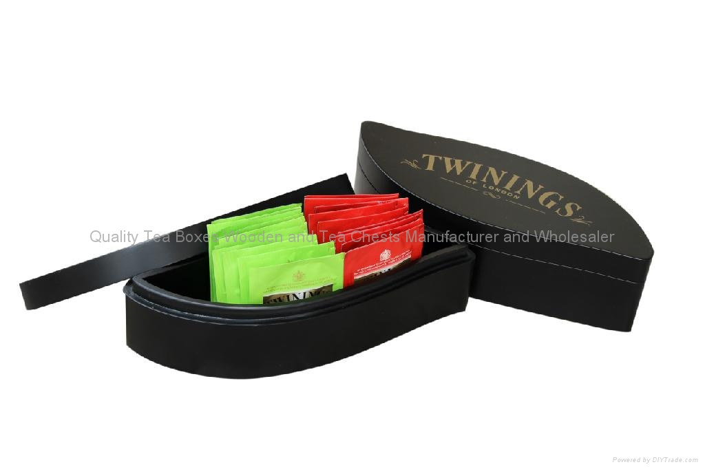 Handcrafted Leaf Shaped Wooden tea Gift Packaging Box 1