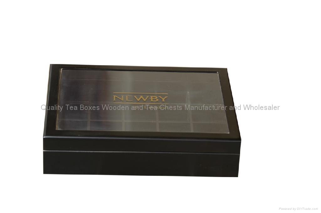 Wooden Tea Boxes Arcylic Glass Window Tea Wood Chest 1