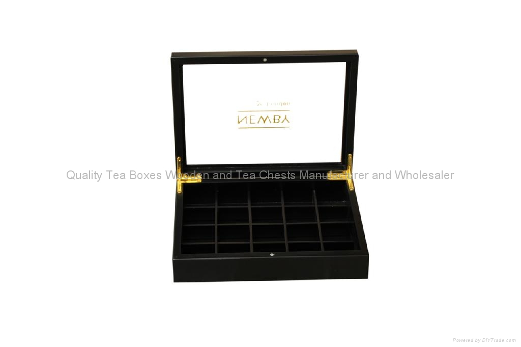 Wooden Tea Boxes Arcylic Glass Window Tea Wood Chest 2