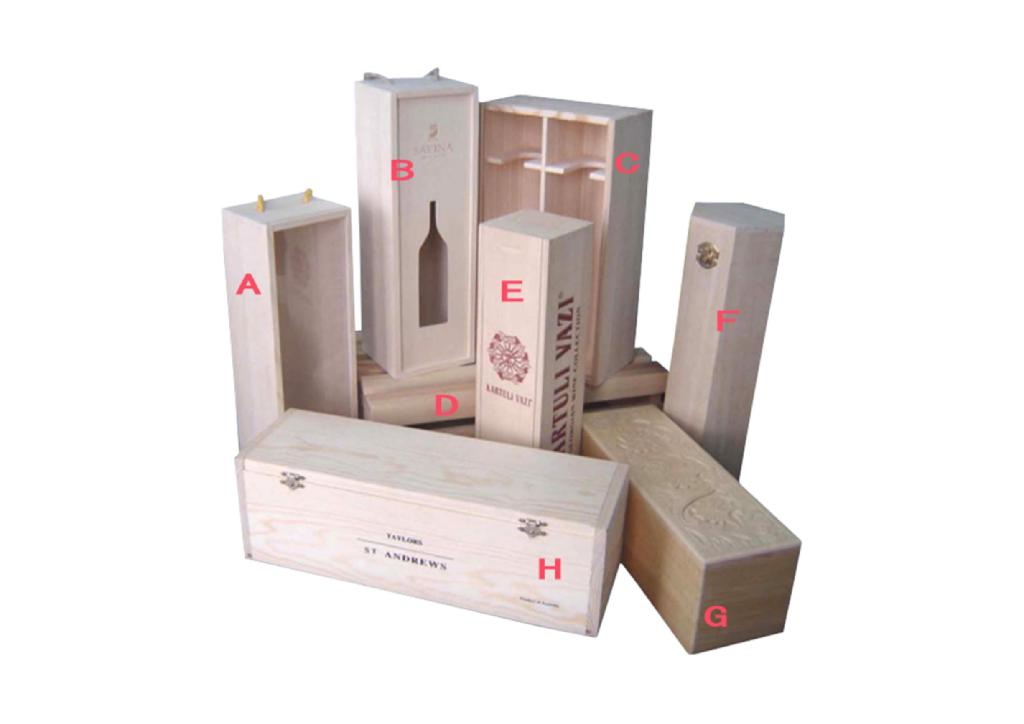 Unfinished Wooden Wine Boxes 1