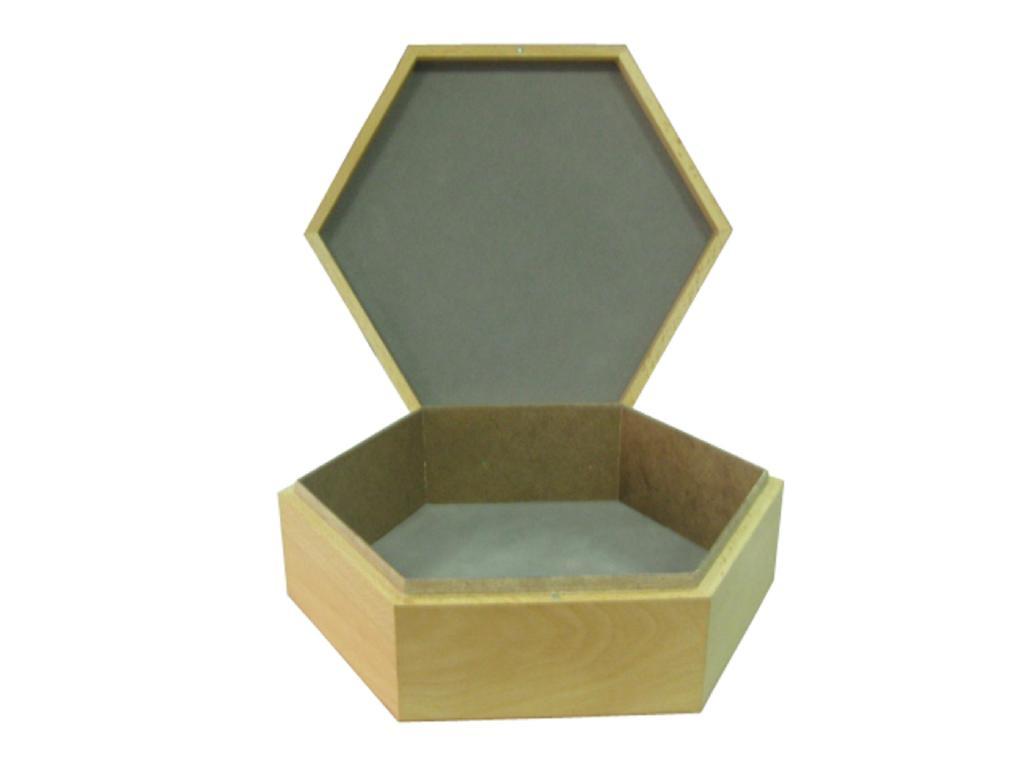 Hexagon Wood Box 1