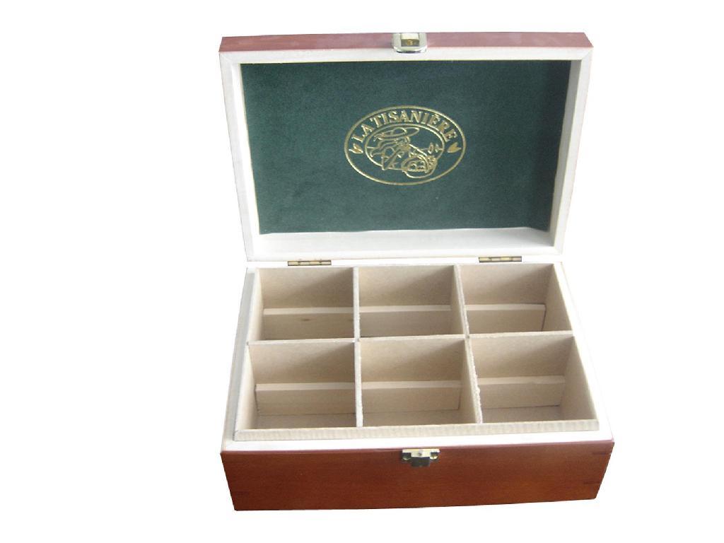 Hot Compartments Wooden Tea Box 1