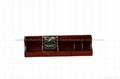 Dark Brown Stained Tea Bags Wooden Display Box