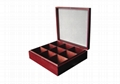 Beautifully Crafted 9 Compartment Solid Wood Tea Box