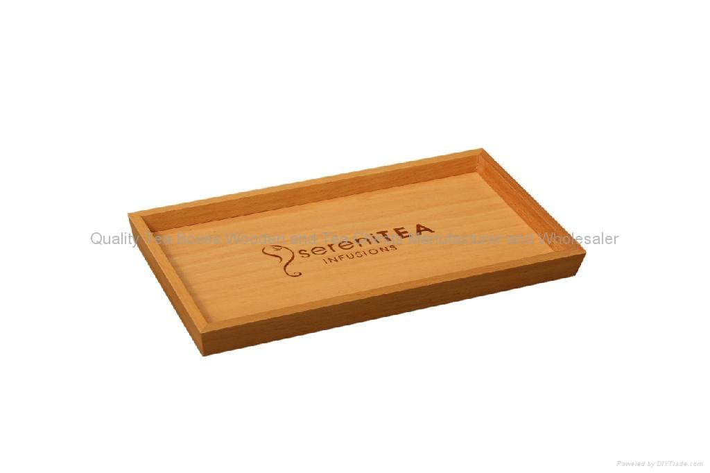 Beech Wooden Tea Display Tray 1