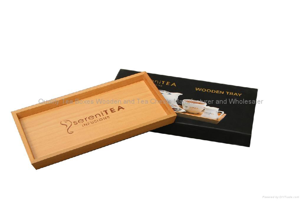 Beech Wooden Tea Display Tray 2