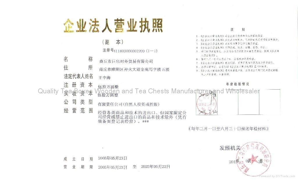 Company's License