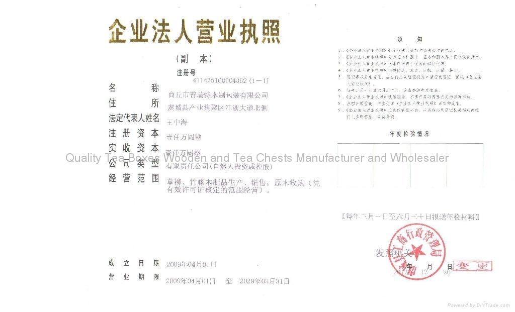 Factory's License