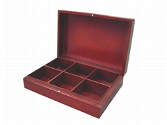 Elegant Dark Brown Wooden Tea and Chocolate Box